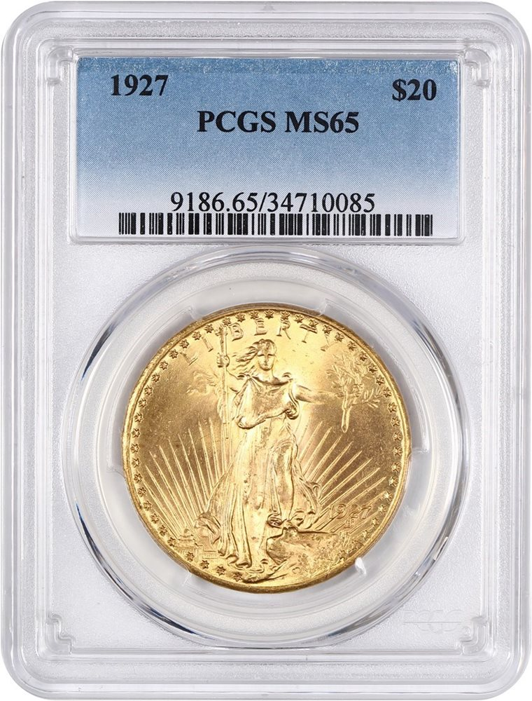 SKU#11529 1927 $20 Saint-Gaudens Gold Double Eagle MS-64 PCGS